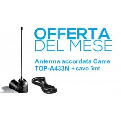 Antenna accordata Came 001TOP-A433N + 5mt Cavo IN REGALO